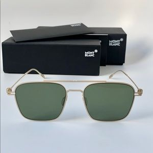 Montblanc Sunglasses MB0050S 008 Gold/Green